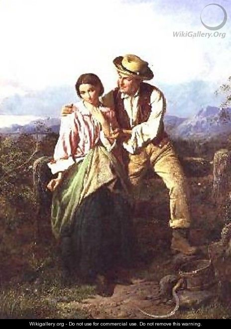 Rustic Courtship - William Henry Midwood