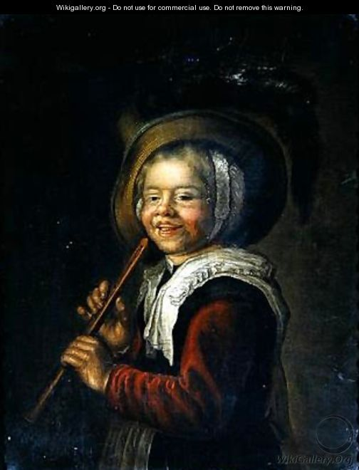 Girl with a recorder - Jan Miense Molenaer