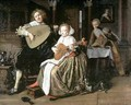A Young Man Playing a Theorbo and a Young Woman Playing a Cittern - Jan Miense Molenaer