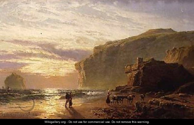 Off the Cornish Coast or Trebariwith Strand - John Mogford