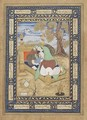 Mother and Child Reclining possibly from Golconda Deccan India - Muhammad al-Hasani Mirza