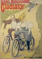 Poster advertising Gladiator bicycles and motorcycles - Ferdinand (Misti) Misti-Mifliez