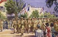 The Guards Saluting Field Marshal Earl Alexander at Tunis May 7th 1943 - Reginald Mills