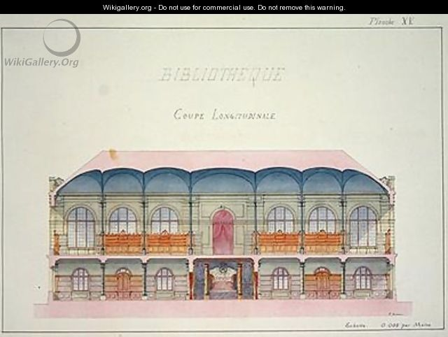 Cross section of a Library - H. Monnot