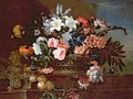 Still Life of Flowers in a Basket - Antoine (Baptiste M.) Monnoyer