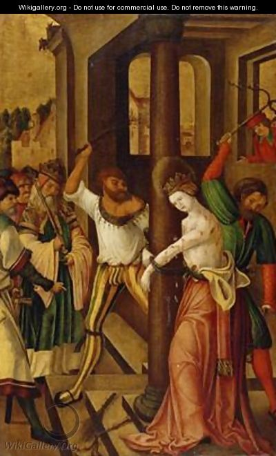The Flagellation of St Catherine 1514 - H.G. Monogrammist