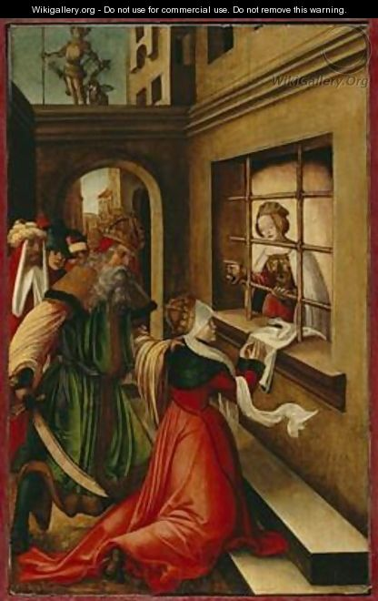 The Roman Empress Faustina Visiting St Catherine of Alexandria in Prison 1514 - H.G. Monogrammist