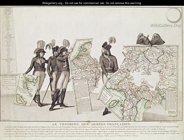 The Triumph of the French Armies Napoleon and his Generals Holding Maps of their Victories at the Time of the Peace of Loeben 18th April 1797 1797 - Antoine Maxime Monsaldy