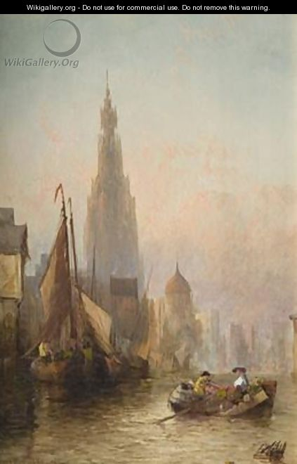 On the Scheldt at Antwerp - Alfred Montague