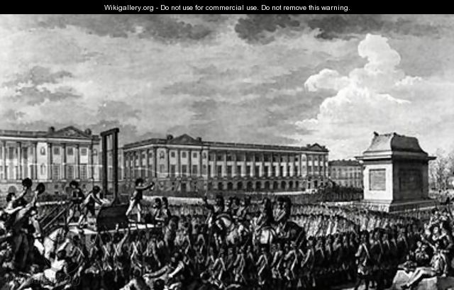 The Day of 21st January 1793 The Death of Louis XVI 1754-93 in Place de la Revolution - (after) Monnet, Charles