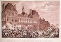 Robespierre Saint-Just Couthon and Hanriot Taking Refuge in the Hotel-de-Ville in Paris - (after) Monnet, Charles