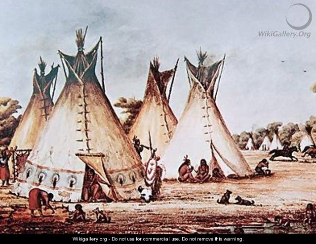 Village of the Kiowa Tribe - Baldwin Mollhausen