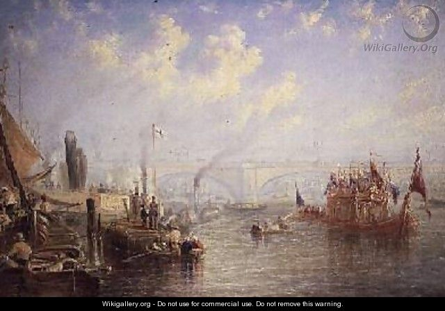 The Thames Near London Bridge - Francis Moltino