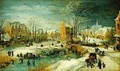 Village in Winter - Joos or Josse de, The Younger Momper