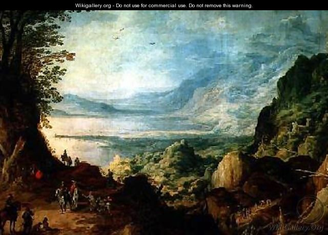 Landscape with Sea and Mountains - Joos or Josse de, The Younger Momper