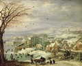 Village Landscape in Winter 1615-20 - Joos or Josse de, The Younger Momper