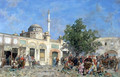 The market of Constantinople - Alberto Pasini