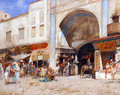 At the entrance to the Market - Alberto Pasini
