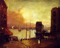 Cumulus Clouds, East River - Robert Henri