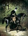 The Rider Kipler on her Black Mare - Alfred Dedreux