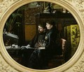 Alphonse Daudet 1840-97 and his Wife in their Study 1883 - Louis Montegut