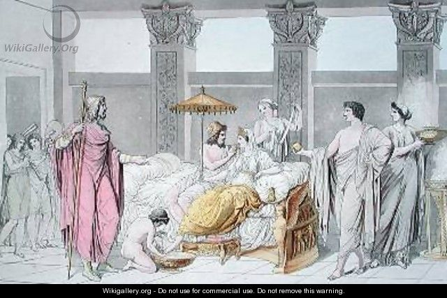 The Wedding of Ulysses and Penelope illustration from Le Costume Ancien ou Moderne - (after) Monticelli, Angelo