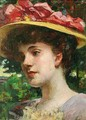 The Straw Hat - James Carroll Beckwith