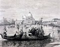A Burial in Venice from the painting Going to the Campo Santo - Clara Montalba