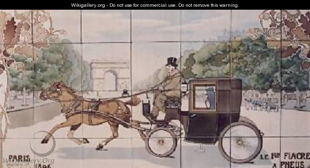 The first Hackney-carriage to use Michelin tyres - Ernest Montaut