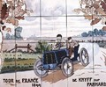 De Knyff driving a Panhard car in the Tour de France of 1899 - Ernest Montaut