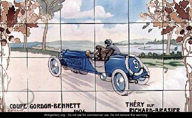 Thery driving a Richard-Brasier car in the Gordon Bennet Cup of 1904 - Ernest Montaut