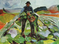 Man in a field of cabbages 1916 - Edvard Munch