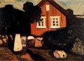House in Moonlight - Edvard Munch