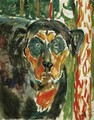 Head of a Dog - Edvard Munch