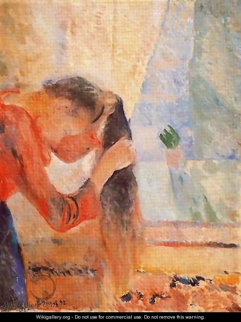 Girl Combing Her Hair - Edvard Munch