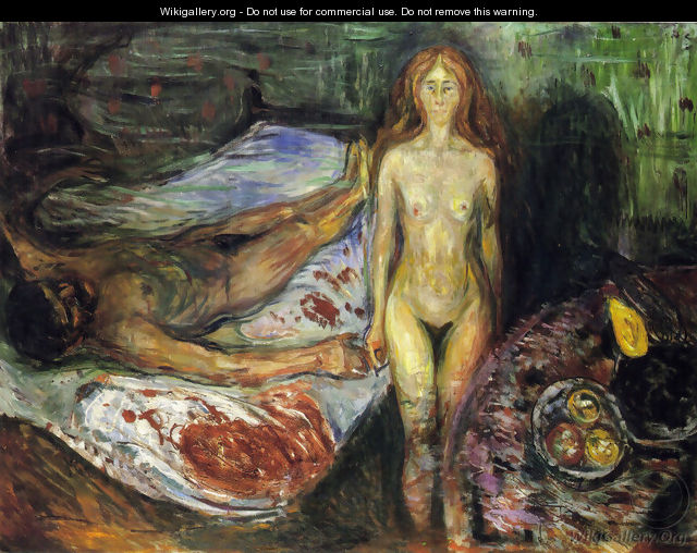 The Death of the husband 1907 - Edvard Munch