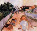 Street in Asgardstrand - Edvard Munch