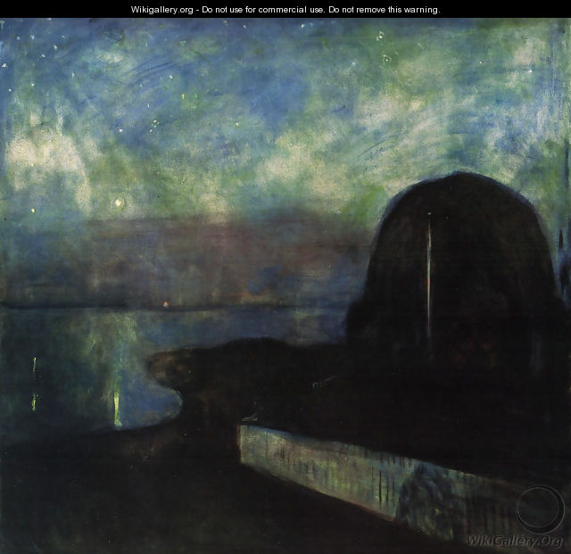 Starry night 1893 - Edvard Munch