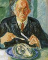 Self-Portrait with Cod's Head - Edvard Munch