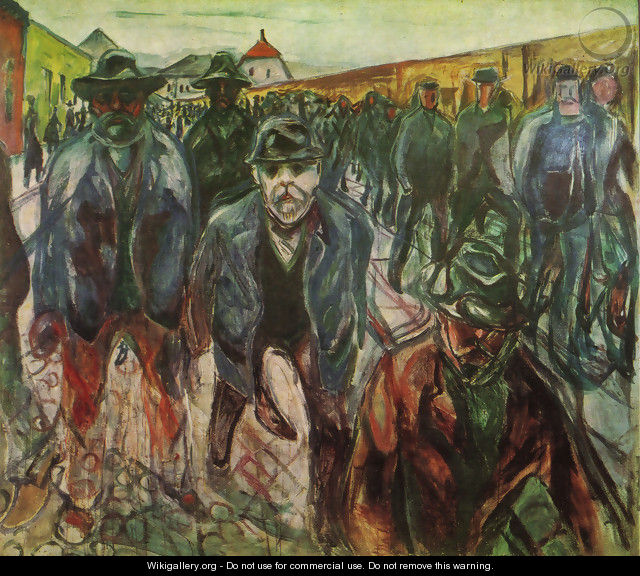 Workers returning at home 1915 - Edvard Munch