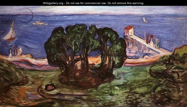 Trees on the Shore - Edvard Munch