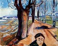 The Murderer in the Lane - Edvard Munch