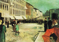 The Military Band on Karl Johan Street - Edvard Munch