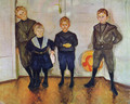 The Four Sons of Dr. Linde - Edvard Munch