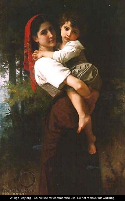 Girl Carrying a Child - William-Adolphe Bouguereau