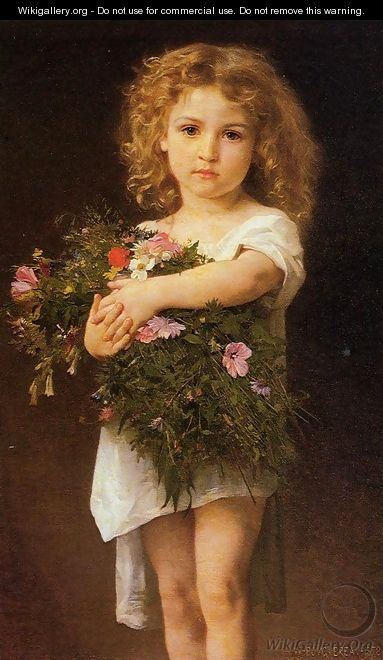Child With Flowers - William-Adolphe Bouguereau