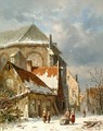 Figures near the church - Adrianus Eversen