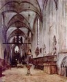 Chorus of the old abbey church in Berlin - Adolph von Menzel