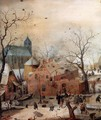 Winter Landscape with Skaters (detail) - Hendrick Avercamp