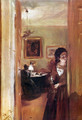 Lilving room with the artist's sister - Adolph von Menzel